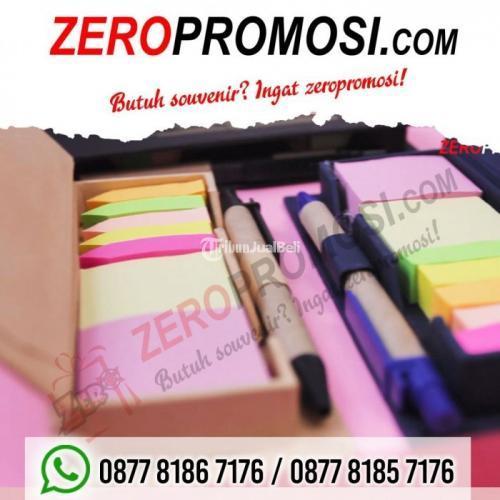 Souvenir Unik dan Serbaguna Memo Post it 908 + Pen & Penggaris - Tangerang
