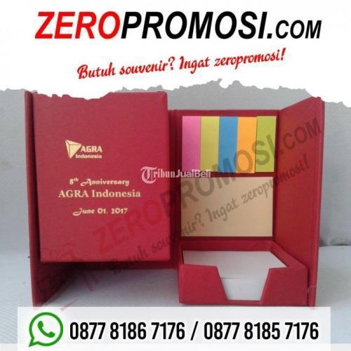 Souvenir Menarik dan Multifungsi Kotak Pen Memo + Post It - Tangerang