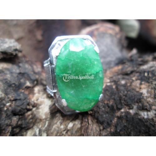 Natural Quartz Mirip Zamrud Jumbo Ikatan Perak Memo My Gems Lab QTZ003 - Jakarta