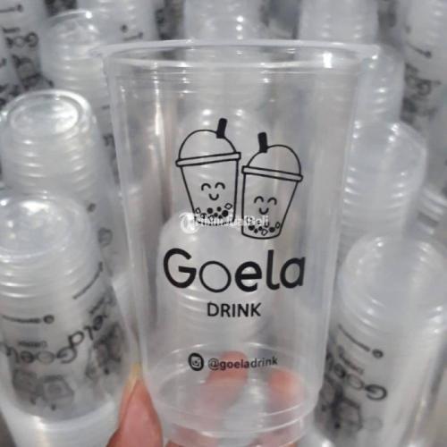Melayani sablon & printing gelas plastik, paper cup, botol plastik - Jakarta Barat