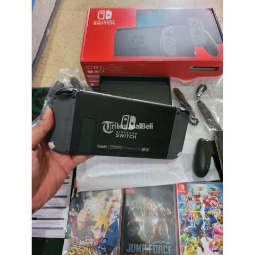 Konsol Game Nintendo Switch V2 Fullset Bekas Terawat Normal - Bekasi