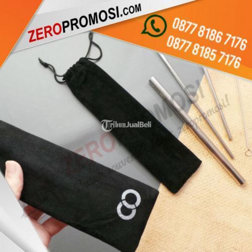 Paket Souvenir Sedotan Stainless Steel Ramah Lingkungan Custom Logo - Tangerang