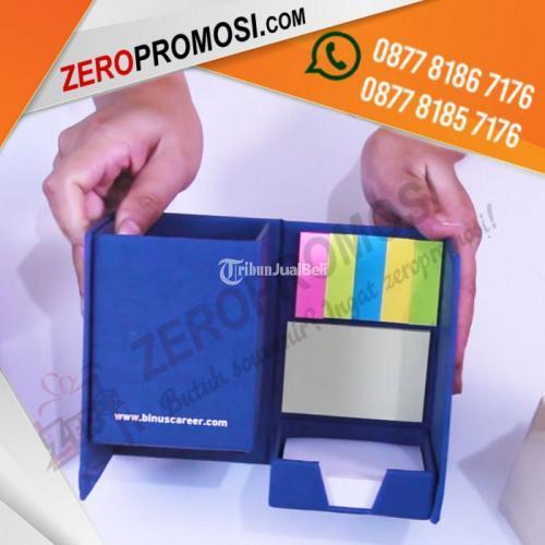 Kotak Pen Memo Post It + Sablon 1warna 2sisi Custom Logo - Tangerang