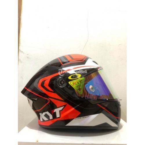 Helm Fullface KYT TT Course Over Tech Black Orange Bekas Like New - Jakarta Sela