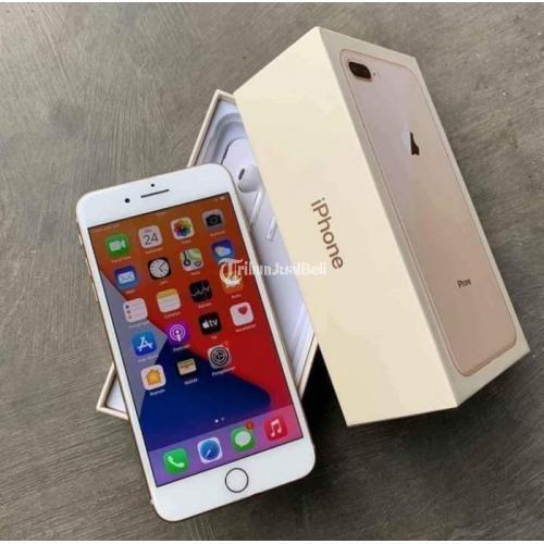 HP iPhone 8 Plus 64GB Gold Bekas Fullset Original No Minus - Surabaya