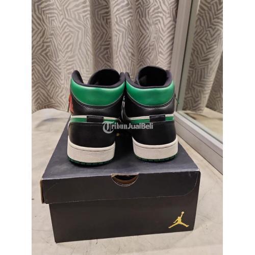 Sepatu Sneakers Air Jordan 1 Mid Green Toe US 9.5 Second VVGC - Cirebon