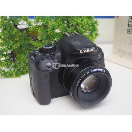 Kamera Canon 650D Lensa Fix 50mm F1.8 Touchscreen Bekas Fullset - Malang