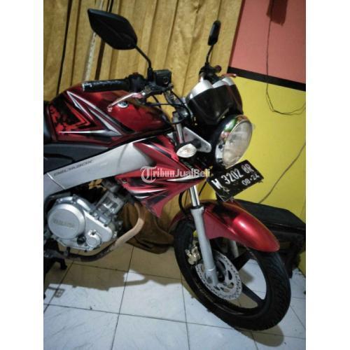 Motor Yamaha Vixion 2009 Merah Bekas Surat Lengkap Kelistrikan Normal - Surabaya