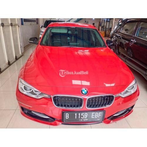 Mobil BMW 320i F30 Sporty 2.0 AT 2013 Merah Bekas Pajak On - Bekasi