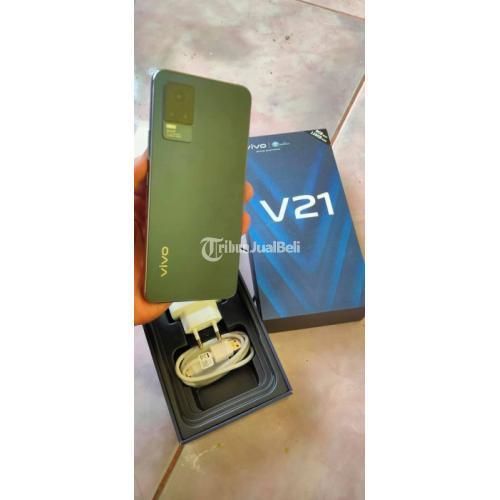 HP Vivo V21 RAM 8/128GB Fullset Bekas Mulus No Minus Fast Charging - Makassar