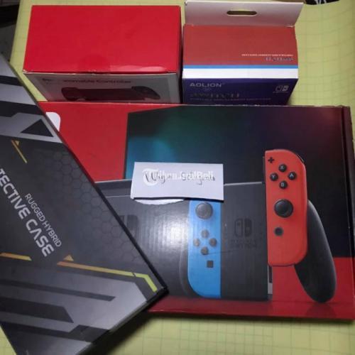 Konsol Game Nintendo Switch v2 OFW Bekas Normal Fullset Mulus - Tangerang