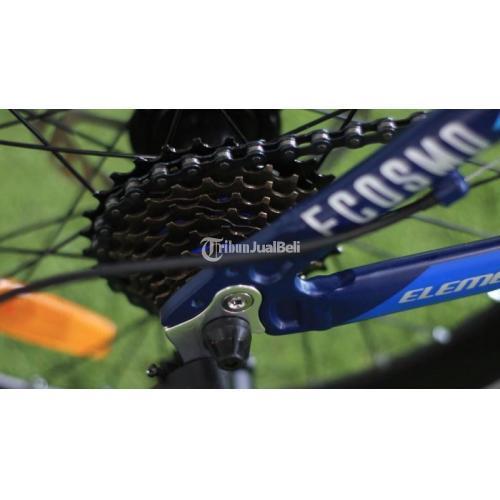 Sepeda Lipat Element Ecosmo 8 Biru Frame Alloy Baru Siap Pakai - Bantul