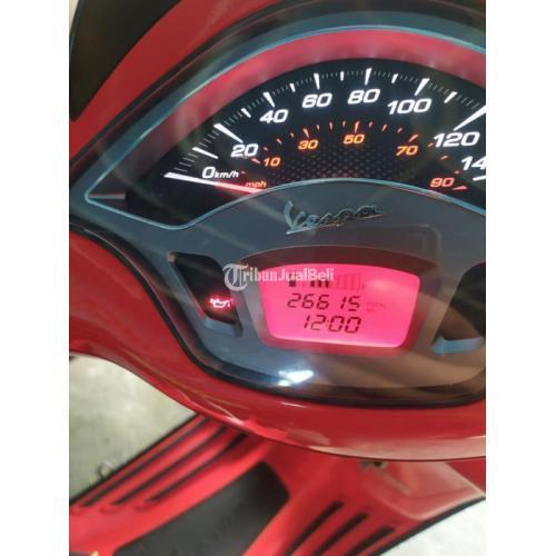 Motor Vespa Sprint ABS i-Get 2019 Merah Bekas Pajak On Terawat - Denpasar