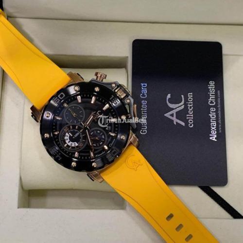 Jam Tangan Alexandre Christie AC9205 Baru Warna Kuning Anti Karat - Purwokerto