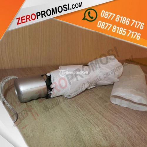 Souvenir Payung Lipat 3 Promosi PL3 Tanpa Lapis Silver - Tangerang