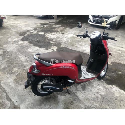 Motor Honda Scoopy 2019 Merah Bekas Surat Lengkap Pajak On - Denpasar