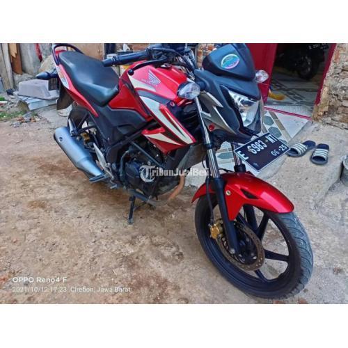 Motor Honda CB150R 2015 Merah Bekas Lengkap Pajak Aktif Harga Nego - Cirebon