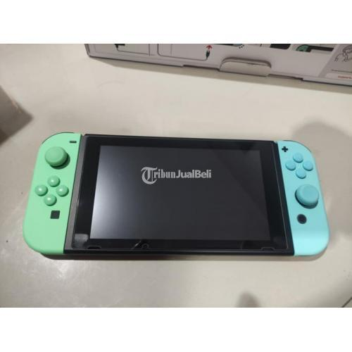 Konsol Game Nintendo Switch V2 OFW Anicross Edition Bekas Fullset Normal - Bandung