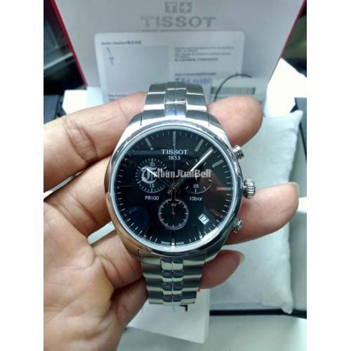 Jam Tangan Tissot PR100 T101.417 Chronograph Bekas Like New Fullset - Bekasi