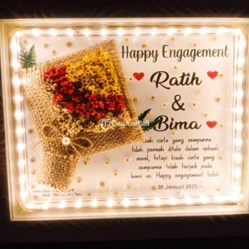 Bingkai Foto Dried Flowers Cocok untuk Kado Harga Murah Bisa Custom - Mojokerto