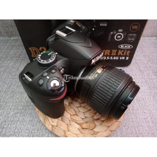 Kamera DSLR Nikon D3200 Fullset Lensa Kit 18-55 VR II Bekas Mulus - Karawang