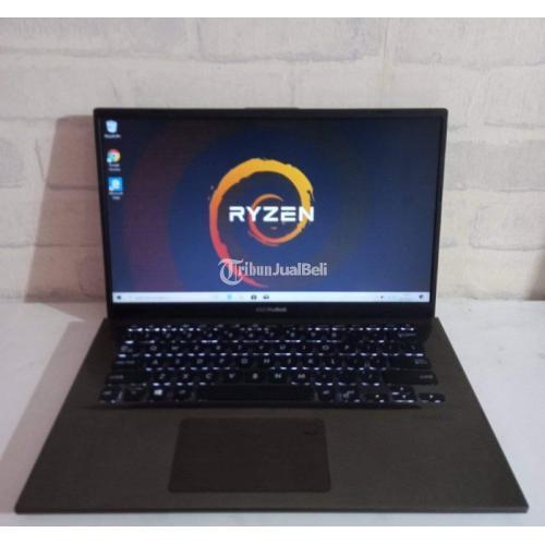Laptop Asus Slim Bodi&spek; gahar Procesor Ryzen 3 3200 Bekas Normal - Semarang