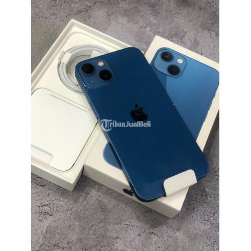 HP Apple iPhone 13 512GB Blue Bekas Like New Buka Dus Fullset - Semarang
