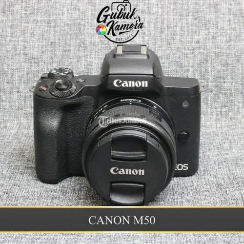 Kamera Canon EOS M50 Lensa Kit 15-45 STM Bekas Fullset Normal - Gresik