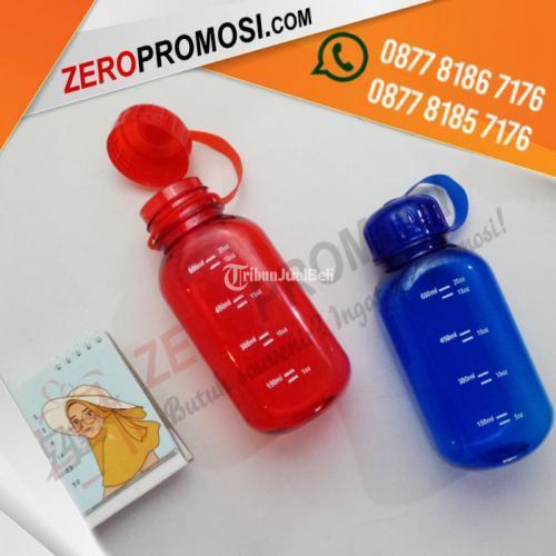 Souvenir Promosi Botol Minum Plastik Segi Empat 600ml