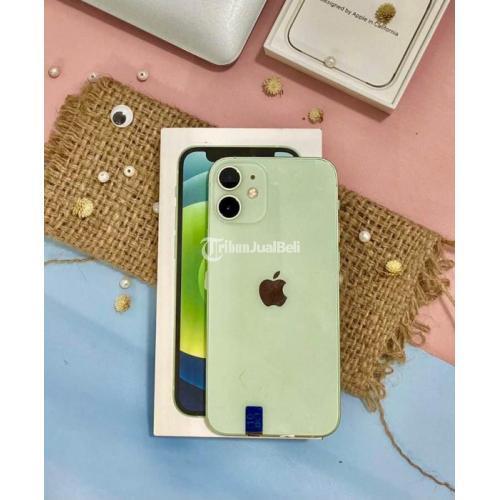HP iPhone 12 Mini 64GB Green Fullset Bekas Baterai 98% Garansi - Bandung