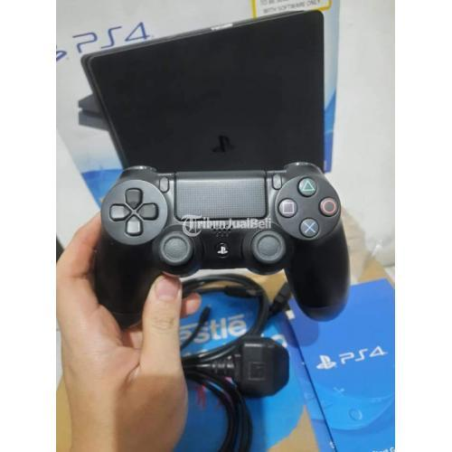 Konsol Game Sony PS4 Slim Seri 2106A 500GB Bekas Fullset Mulus Like New - Jakart
