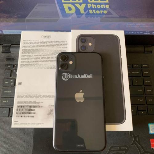 HP Apple iPhone 11 128GB Black Bekas Resmi iBox Mulus Fullset - Surabaya