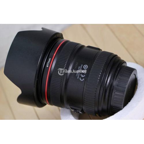 Lensa Kamera Canon 24-70mm F4.0 L IS USM Fullset Bekas No Jamur