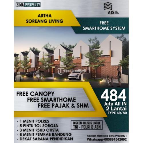 Dijual Rumah Tipe 49 dan 59 2 Kamar Lokasi Strategis Harga Murah - Bandung