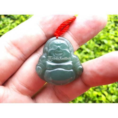 Batu Permata Liontin Natural Jadeite Jade Type A Carving Maitreya JDT020 - Jakarta Pusat