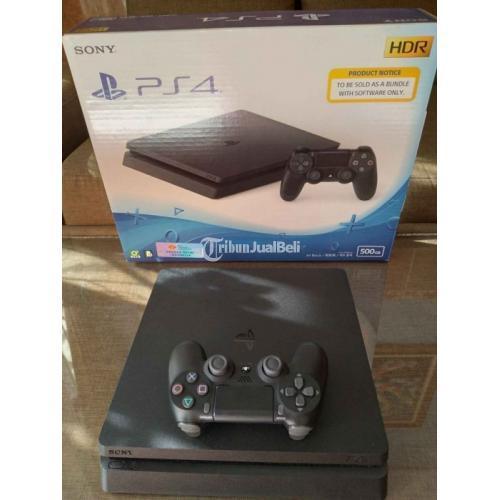 Konsol Game Sony PS4 Slim 500GB Bekas Normal Mesin Segel Void Lengkap - Solo