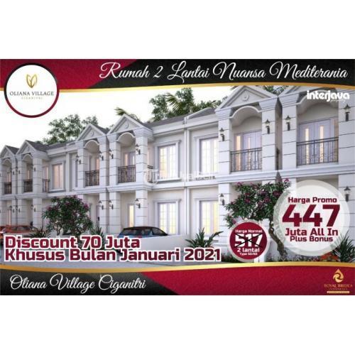 Dijual Rumah 2 Lantai Mediteran Mewah Murah 400jtan Ciganitri - Bandung