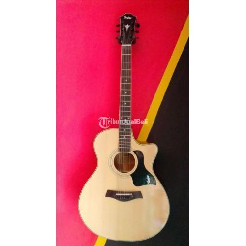 Gitar Akustik Taylor No PreAmp Rangka Silang Bekas Fullset Normal - Depok