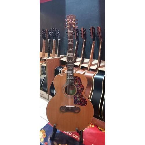 Gitar Gibson Tanam Besi Double Axction Suara Bagus Bekas Normal Mulus - Bekasi