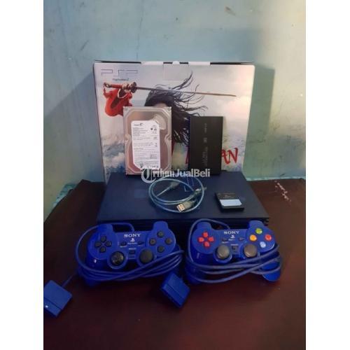 PS 2 Blue Transparant Limited Edition Fullset Stick 2 Bekas Harga Nego - Bandung