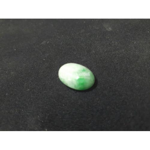 Natural Giok Jadeite Jade Type A Cobochon White Apple Green JDT021 Origin Burma - Jakarta Pusat