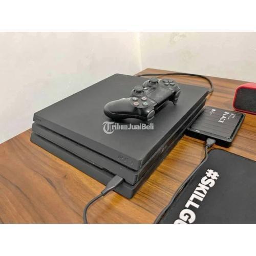 Konsol Game Sony PS4 Pro 2TB HDD Fullset Bekas Normal 1 Stik DS4 Bawaan - Solo