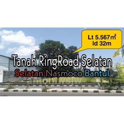 Dijual Tanah RINGROAD Barat Lt 5667m² ld 33m. SHMP di Selatan Toyota Nasmoco - Jogja