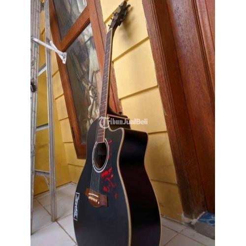 Gitar Akustik Warna Hitam Bekas Normal Bonus  Senar String 1 Set - Bogor