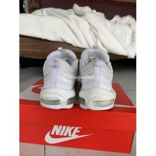 Sepatu Sneakers Nike Airmax 97 Full White Original Bekas Like New - Jogja