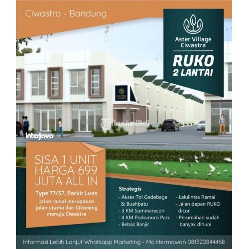 Dijual Ruko Murah 2 lantai Sisa 1 Unit Aster Village Ciwastra - Bandung
