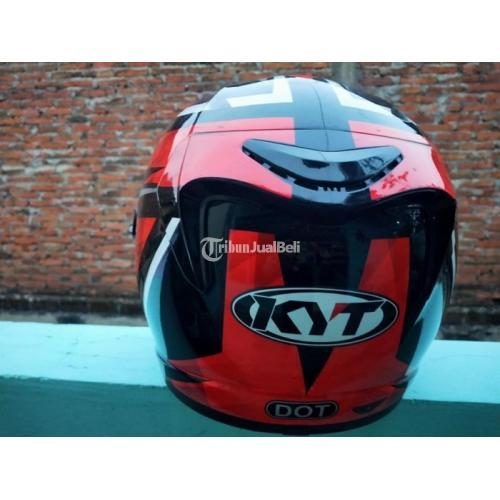 Helm KYT K2R Red Diamond Size L Visor Flat Silver Bekas Baik Harga Nego - Sukoharjo