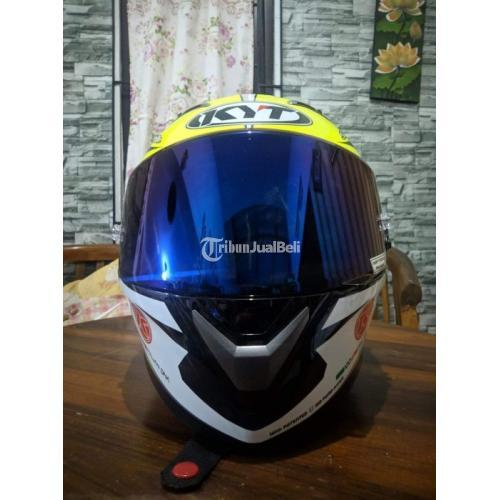 Helm KYT Vendetta 2 Aleix Espargaro Blue Size L Bekas Like New - Semarang