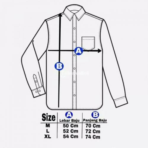 Kemeja FranelBahan Semi Wool Import Nyaman Digunakan Fit to XL - Nganjuk