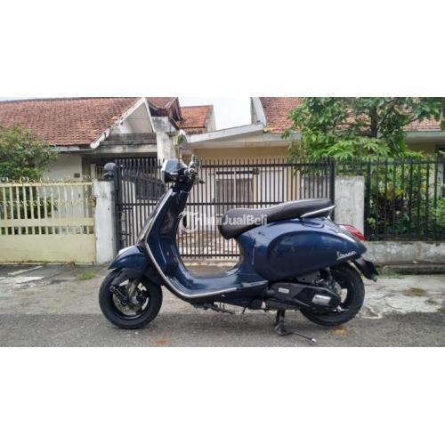 Motor Vespa Primavera Iget Navy 2016 Surat Lengkap Bekas Normal - Bandung